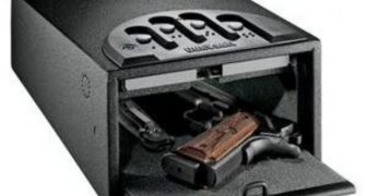 The GunVault MiniVault Deluxe Handgun Safe