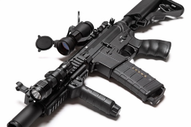 US Special Forces M4A1 custom build assault rifle.