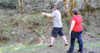 Taking a Beginner Shooter Shooting