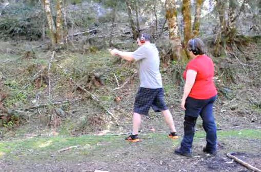 Taking a Beginner Shooter Shooting
