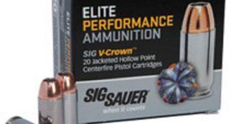 Sig Sauer V-Crown Defense Ammunition